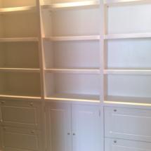 Libreria lacada blanco